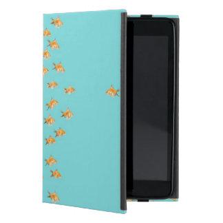 Large group of goldfish facing one lone goldfish case for iPad mini