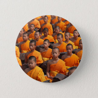 Large Group of Meditating Monks Button