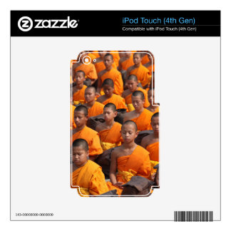 Large Group of Meditating Monks iPod Touch 4G Skins