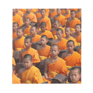 Large Group of Meditating Monks Notepad