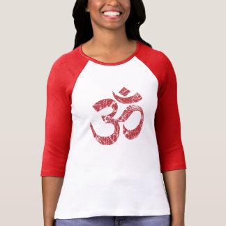 Large Grunge OM Symbol Spirituality Yoga Tshirt
