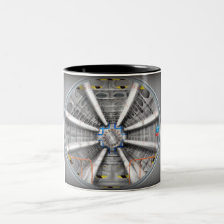 Large Hadron Collider  particle accelerator Two-Tone Coffee Mug
