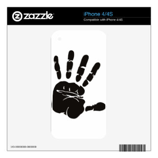 Large Hand Print (Palm and Fingers) Decals For The iPhone 4S