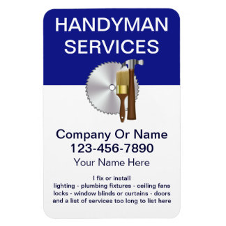 Large Handyman Business Magnets