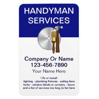 Large Handyman Business Magnets Rectangle Magnet