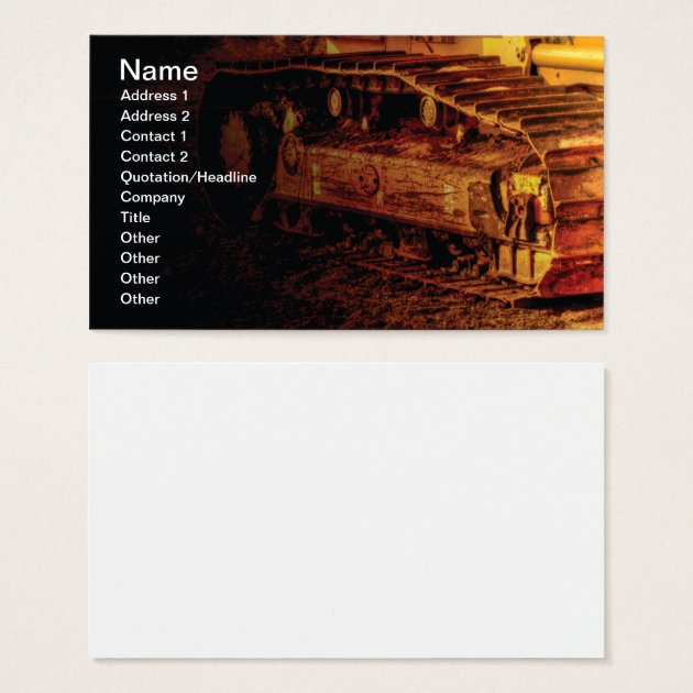 large heavy duty construction equipment business card | Zazzle