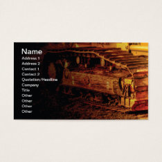 Large Heavy Duty Construction Equipment Business Card at Zazzle