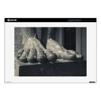 Large Hermitage building, sculpture foot Laptop Decal