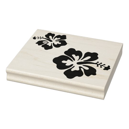 Large Hibiscus Flower Rubber Stamp Zazzlecom