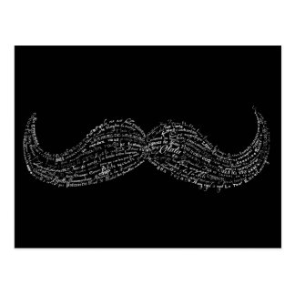 Large hipster mustache typographic French quotes Postcard