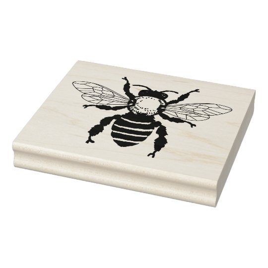 Large Honey Bee Rubber Stamp Zazzle Com