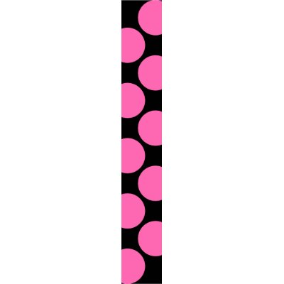 Large Hot Pink Dots on Black Background Tie by strictlyties