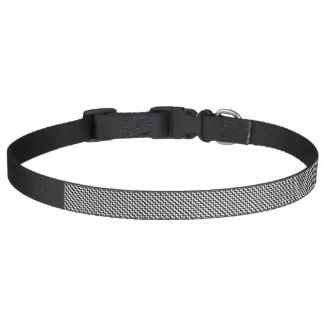 Large Houndstooth Pattern Dog Collar