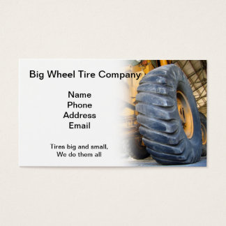 Large Industrial Tire Repair and Service Business Card