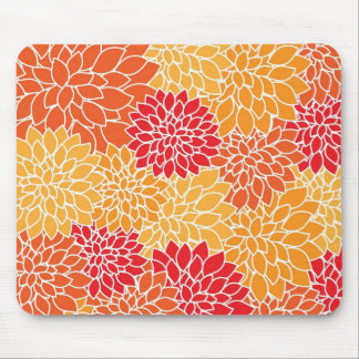 Large integrated blossom flowers pattern design mouse pad