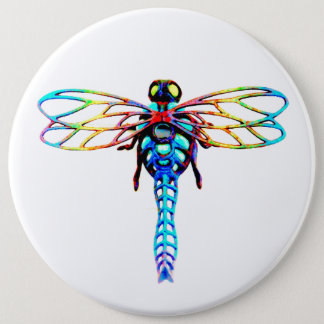 large iridescent dragonfly button