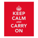 Large Keep Calm And Carry On Poster