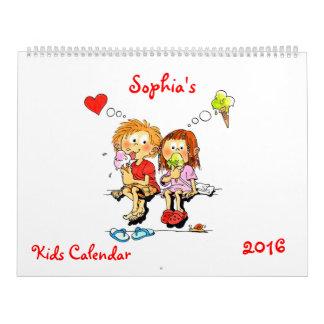 Large Kids Calendar 2016 Funny Calendar For Kids