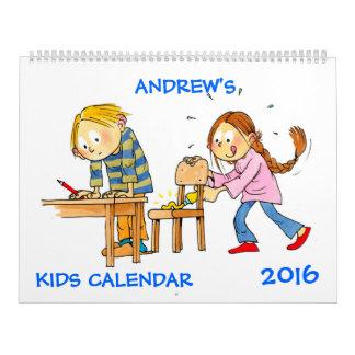 Large Kids Calendar 2016 Funny Calendars For Kids