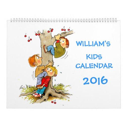 Large Kids Calendar 2016 Funny Calendars For Kids | Zazzle