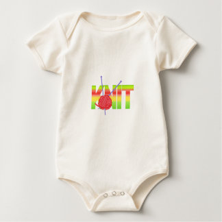 LARGE KNIT BABY BODYSUITS