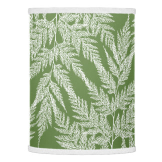 Large Lacy White Ferns Lamp Shade