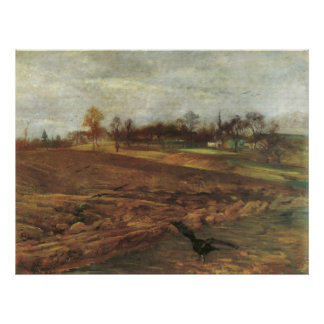 Large landscape Ravens by Lovis Corinth Poster
