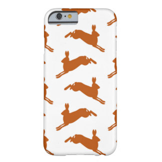 Large Leaping Hares Fawn Brown Barely There iPhone 6 Case