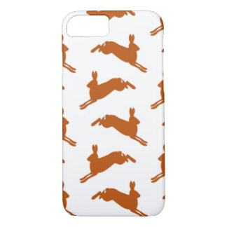 Large Leaping Hares Fawn Brown iPhone 8/7 Case