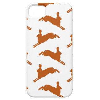 Large Leaping Hares Fawn Brown iPhone SE/5/5s Case
