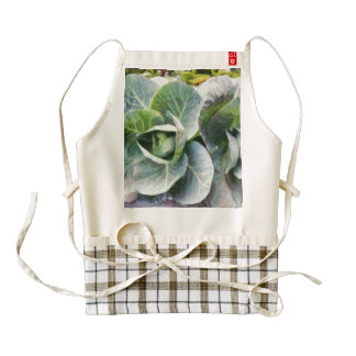 Large leaves of a cabbage plant zazzle HEART apron