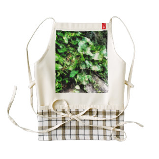 Large leaves of a creeper zazzle HEART apron