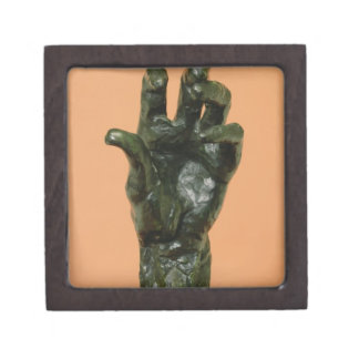 Large Left Hand (bronze) Premium Keepsake Boxes