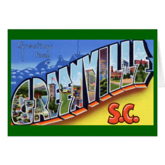Large Letter Greetings Greenville South Carolina Cards