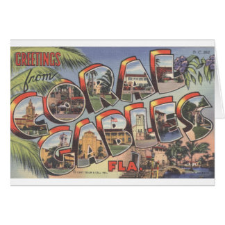 Large Letter Note Card_Greetings from CORAL GABLES Card