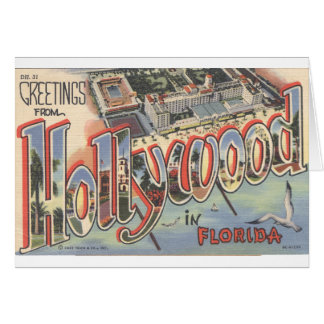 Large Letter Note Card_Greetings from HOLLYWOOD FL Card