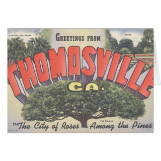 Large Letter Note Card_Greetings from THOMASVILLE  Card