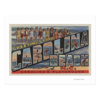 Large Letter Scenes - Carolina Beach, NC Postcard
