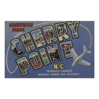 Large Letter Scenes - Cherry Point, NC Poster