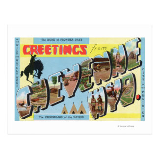 Large Letter Scenes, Greetings From 2 Postcard
