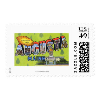 Large Letter Scenes, Greetings From 5 Stamp