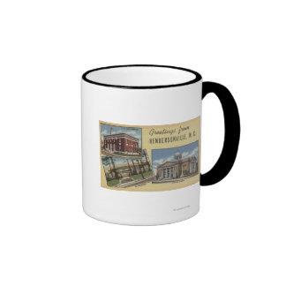 Large Letter Scenes - Hendersonville, NC Ringer Coffee Mug