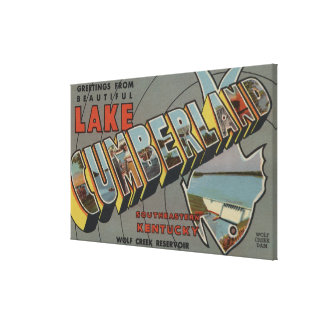 Large Letter Scenes - Lake Cumberland, KY Canvas Print