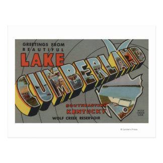 Large Letter Scenes - Lake Cumberland, KY Postcard