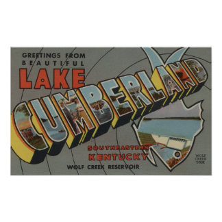 Large Letter Scenes - Lake Cumberland, KY Posters