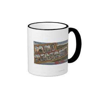 Large Letter Scenes - Point Pleasant, WV Ringer Mug