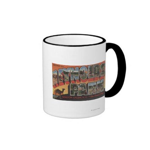 Large Letter Scenes - Reynolds Park, NC Ringer Coffee Mug