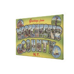 Large Letter Scenes - Westchester County, NY Canvas Print