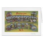 Large Letter Scenes - Westchester County, NY Greeting Card