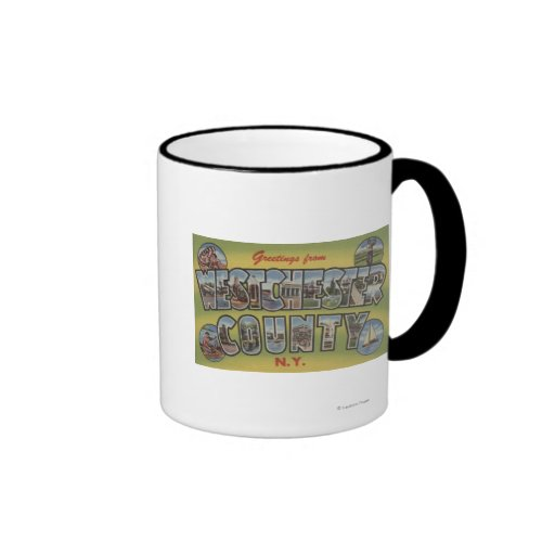 Large Letter Scenes - Westchester County, NY Ringer Coffee Mug